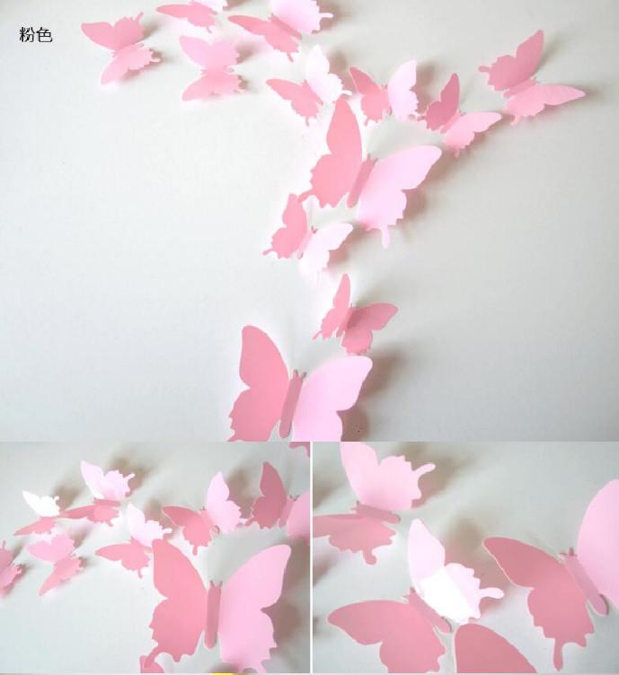 3d наклейки на стену бабочка, на холодильник, мебель, в детскую комнату фото №1