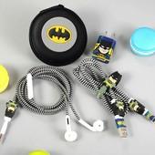 Набор для наушников и кабеля Бетмен/Котя, 2 вида, новый