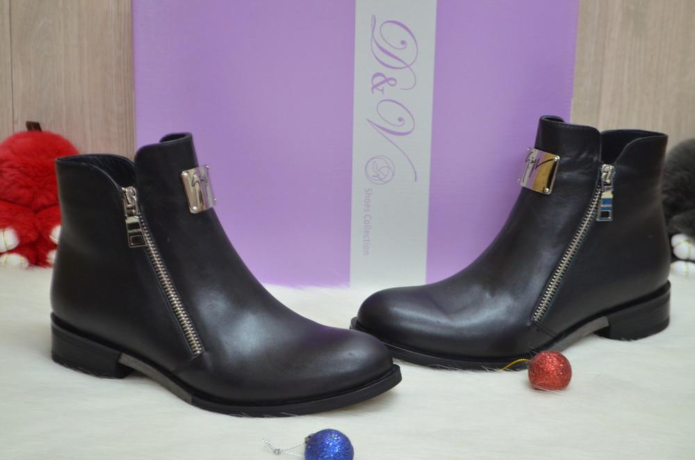 Женские зимние ботинки натуральная кожа фото №1