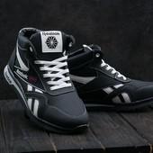 Мужские кожаные зимние кроссовки Reebok, gavk-050W-T15