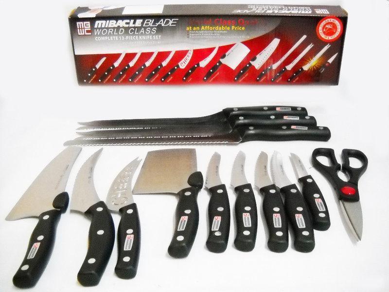 Набор ножей miracle blade 13в1 фото №1