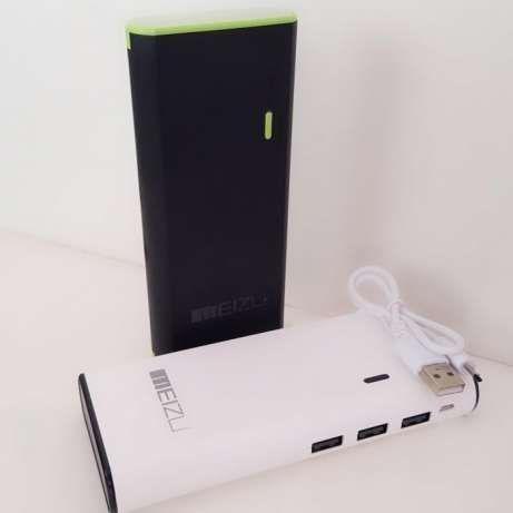 Power bank meizu 3  +30000 mah (белый, черный) фото №1