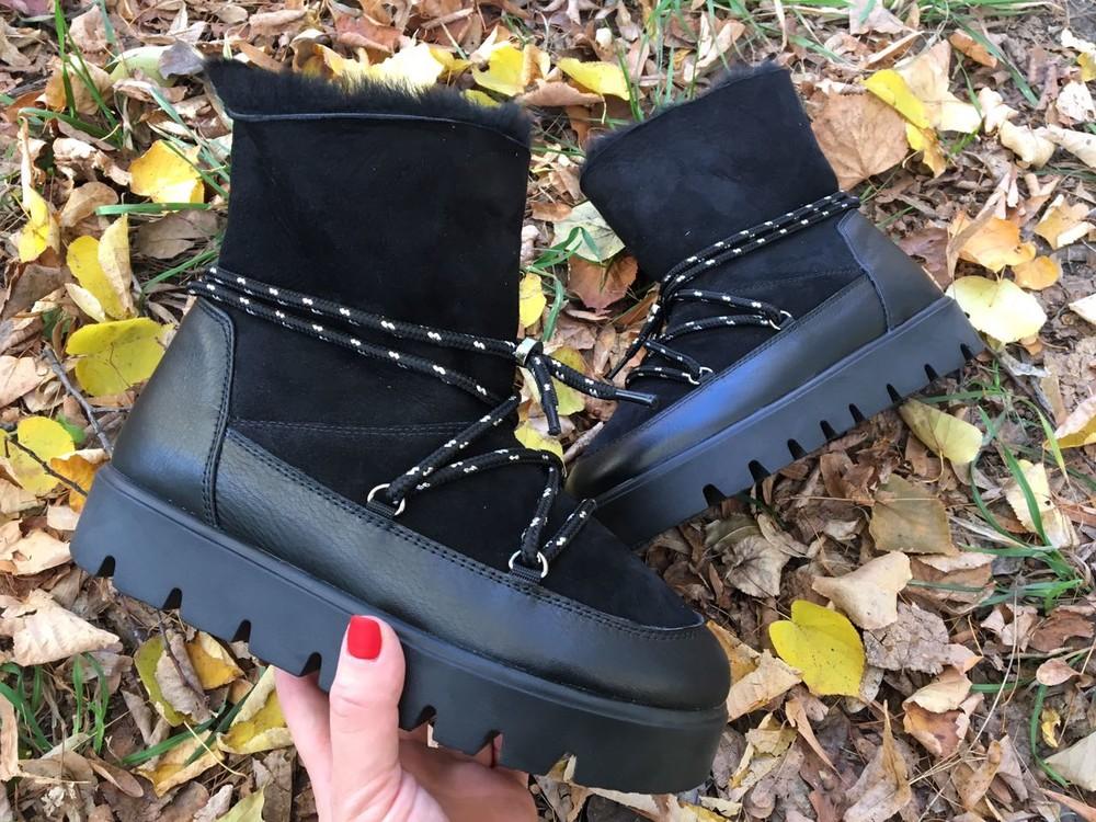 Кожаные/замшевые зимние ботинки, угги, луноходы фото №1