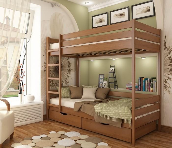 Кровать двухъярусная детская дуэт. акция и бонус к заказу. фото №1