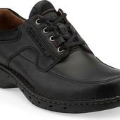 Ботинки туфли кожа еврозима Clarks unstructured 9G/42-43р