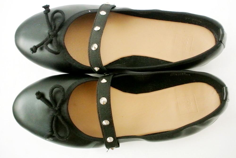 Классические стильные туфли-балетки sole diva из кожзама . размер uk8/41-42. фото №3