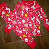 Пижама хлопок Next на 3-4года(98-104см)