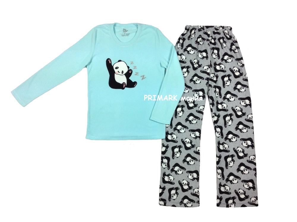 Женская флисовая пижама primark. читать описание! фото №1