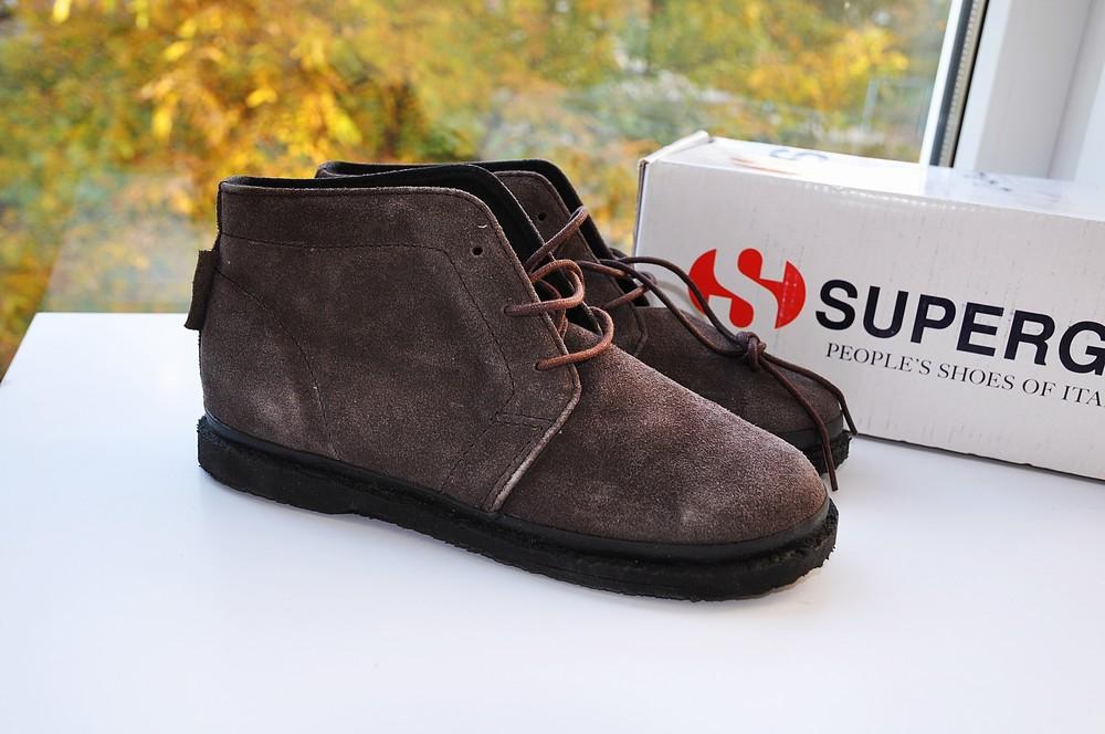 Замшевые ботинки superga 33,34р  италия фото №1