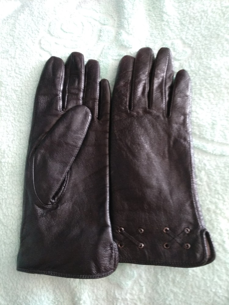 Перчатки кожаные фото №1