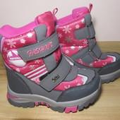 Термо черевики Tom.m 3855-А для дівчинки зимові терміки том м зимние термоботинки девочку tomm