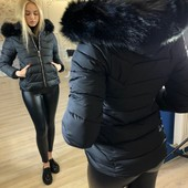 Куртка #484 Размеры: 42, 44, 46, 48 Наполнитель: холофайбер  Цвет: черный