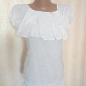 Белая блуза Elena Renier р.8 (ог 90) вискоза