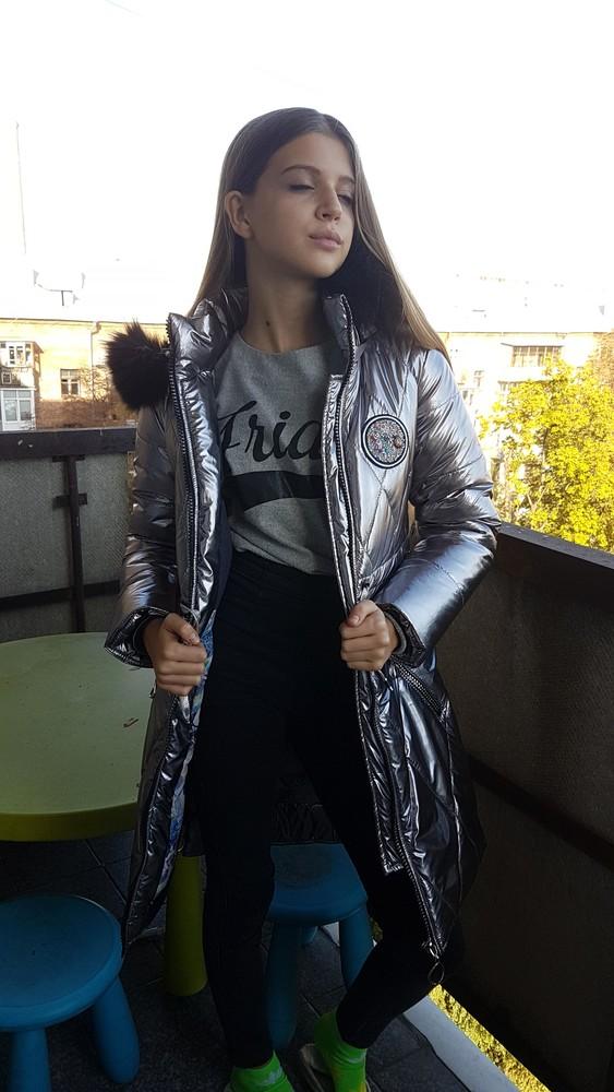 Зимнее теплое пальто на девочку. фото №1