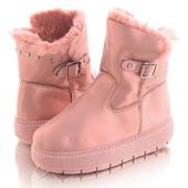 Женские теплые угги розового цвета