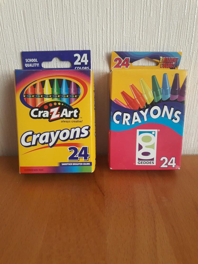 Восковые карандаши мелки crayons и crazart 24 шт. не токсичны оригинал сша фото №1