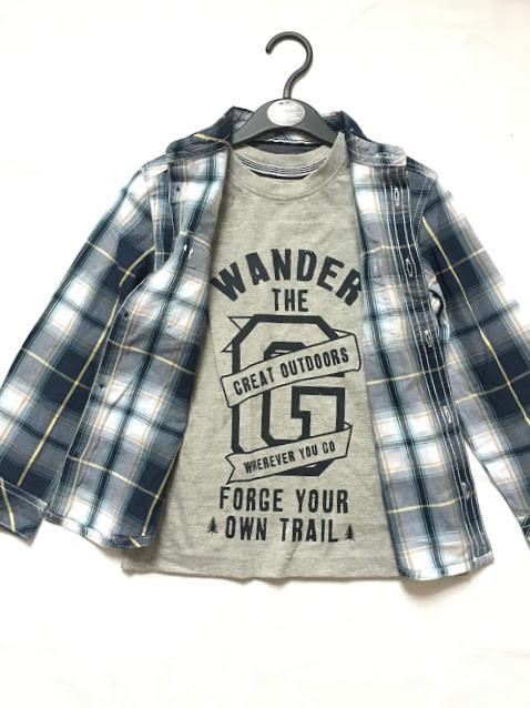 Комплект на мальчика 5-6 лет, футболка и рубашка от pep&co фото №1