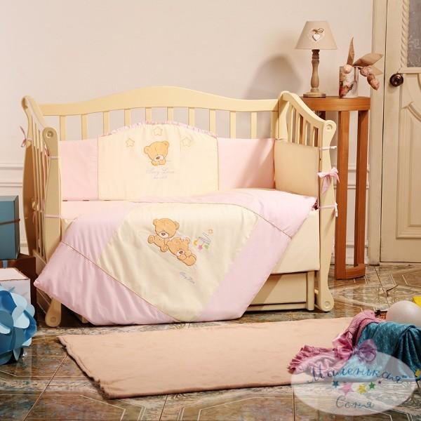 Постельное белье для новорожденных из 3 предметов (много моделей) фото №12