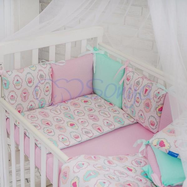 Постельное белье для новорожденных из 3 предметов (много моделей) фото №17