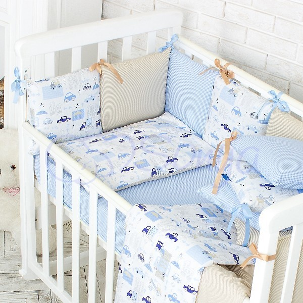 Постельное белье для новорожденных из 3 предметов (много моделей) фото №6