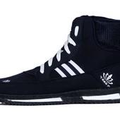 Стильные зимние кроссовки-ботинки в синем цвете (МБ-22с)