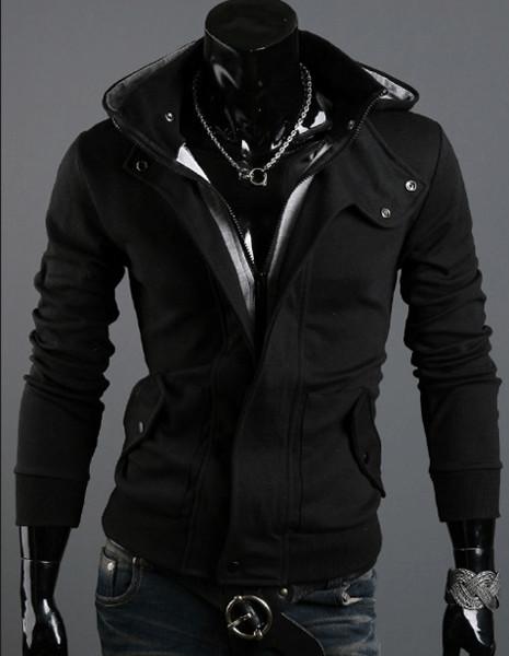 Мужская толстовка с капюшоном код 48 (черная) фото №1