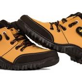 Яркие оранжевые ботинки-кроссовки на зиму (АН-367)