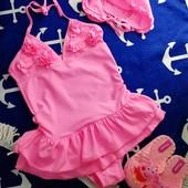 Розовый купальник детский