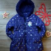 Пальто куртка в снежинки Disney (5-6л)