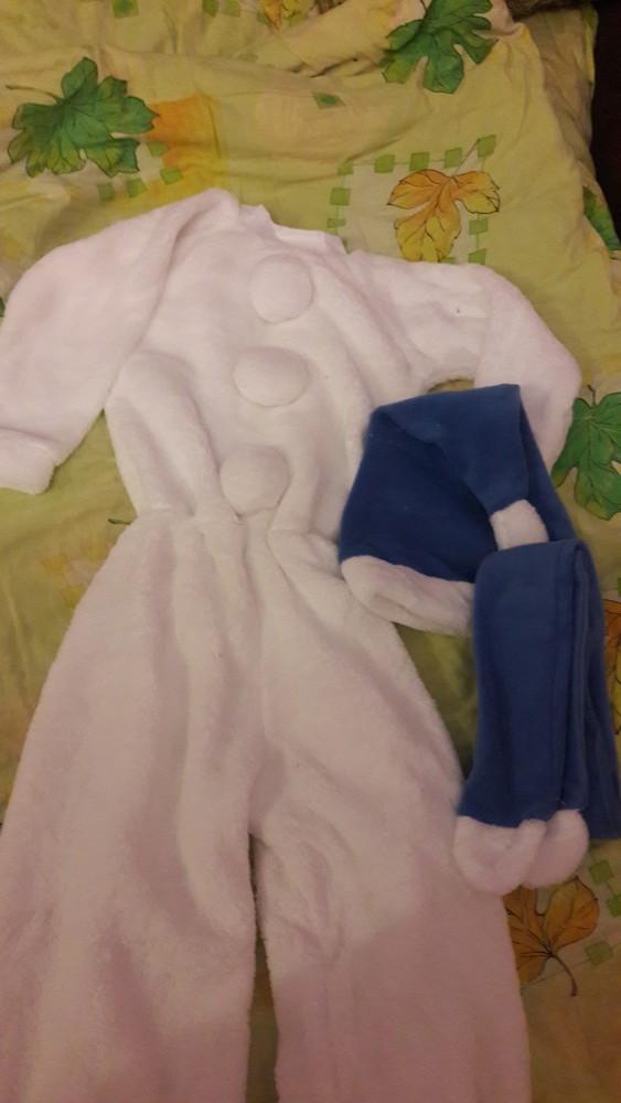 Новорічний костюм, сніговик, снеговик, 98-110 см фото №4