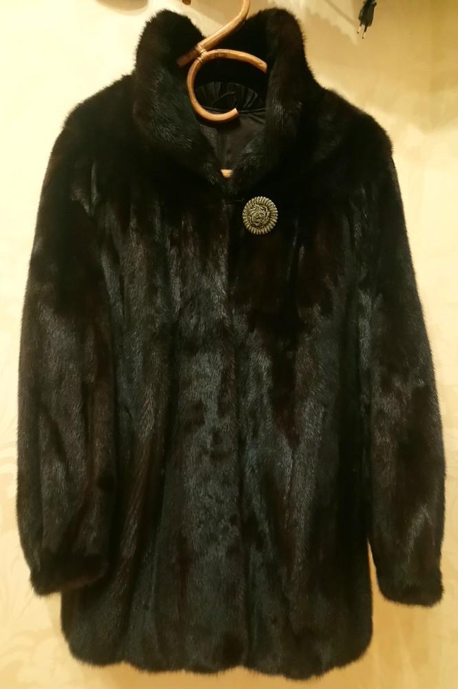 Фирменная норковая шуба шоколадного цвета. из европы. разм.40-44. в отличном состоянии. снизила цену фото №1