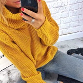Объемный свитер Горло. Размер 42-50 универсал