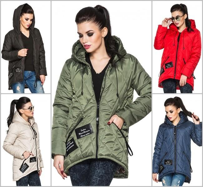 Ультрамодная женская демисезонная куртка парка прямого фото №1