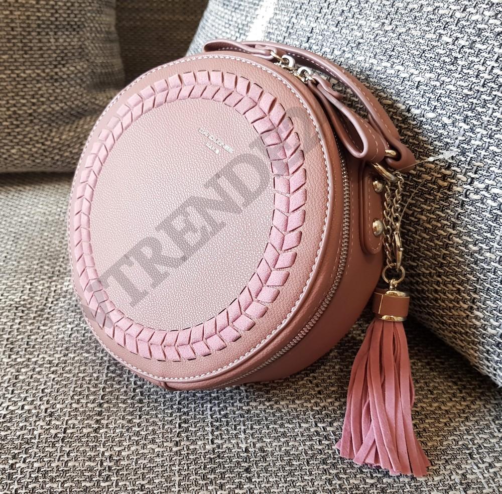 d6e9aecc5754 Лидер продаж #001 pink david jones женская круглая каркасная сумка- клатч  фото №1