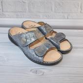 Новые шлепанцы Fih Comfort 40р 26см Кожа на широкую ногу