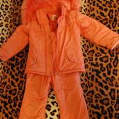 Зимний комбинезон с курткой р 110