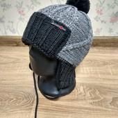 Теплая зимняя шапка на флисе 52-56 размер
