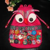 крутейший фирменный рюкзак Velosso коттон 32*26 см как новый