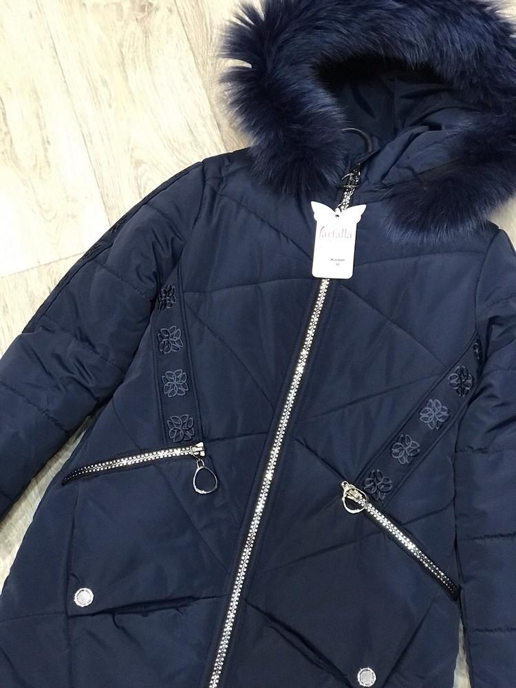 Внимание! распродажа! тёплое зимнее пальто на девочку фото №7