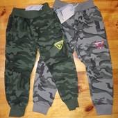 98-128 Спортивні теплые камуфляжні теплі штани Венгрія