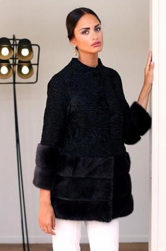 Шуба- пальто норка и персидская каракульча saga furs фото №1