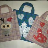 Детская текстильная сумочка новогодняя
