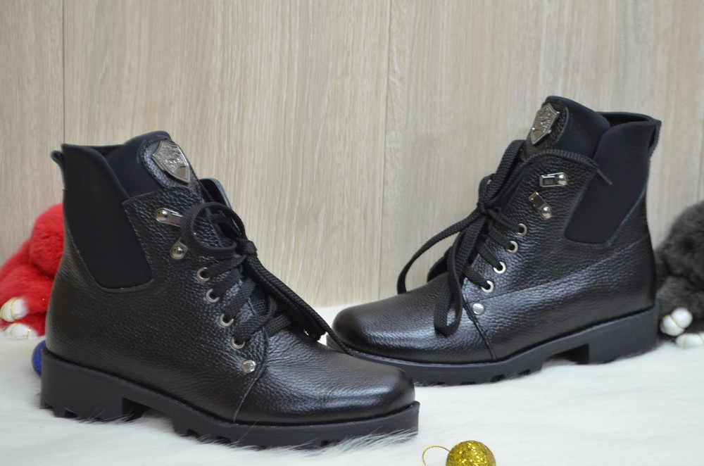 Зимние ботинки натуральная кожа фото №1