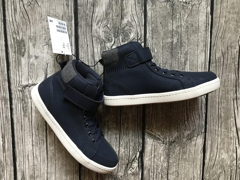 Модные хайтопы ботинки на мальчика hm размеры 34,35 в наличии фото №1