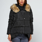 Куртка женская зимняя, 4 удобных кармашка и завязки на капюшоне, р. 44-48