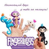 Интерактивная ручная обезьянка оригинал Fingerlings на палец WowWee разные цвета фингерлингс