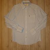 Рубашка в полоску из плотного коттона размер М Abercrombie & Fitch