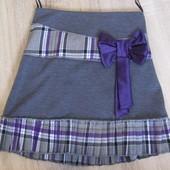 р. 122-146 Распродажа юбка детская трикотажная