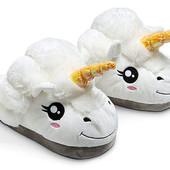 Тапочки-игрушки  Единороги белые