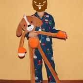 игрушка собака,пёс 88см
